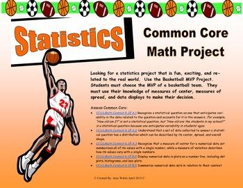 Grade 6 Common Core Statistics Project - Basketball Assessment