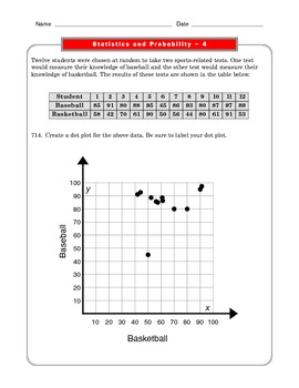 Grade 6 Common Core: Statistics and Probability Math Worksheet 4.2