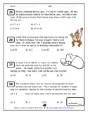 Grade 6 Common Core Test and Quiz Pack
