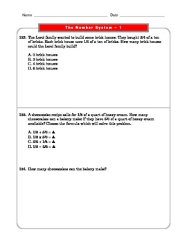 Grade 6 Common Core: The Number System Math Worksheet 1.2