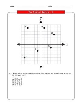 Grade 6 Common Core: The Number System Math Worksheet 6.3