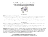 Grade 6 Core French Back to School Deck of Cards Activity