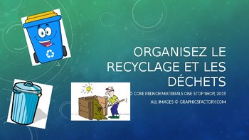 Grade 6 Core French Environmental Initiatives Unit Activity: Recycling&Waste