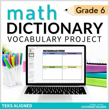 6th Grade DIGITAL MATH DICTIONARY - GOOGLE DRIVE - Interactive TEKS Vocabulary