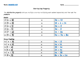 Grade 6: Distributive Property with Expressions Mini Lesson