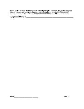 Grade 6 ELA Module 1 Topic A assessments
