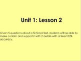 Lightning Thief- Grade 6 ELA Module 1 Unit 1 Lesson 2