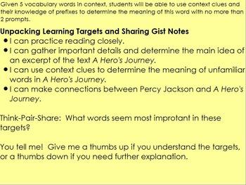 Lightning Thief- Grade 6 ELA Module 1 Unit 1 Lesson 9
