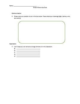 Grade 6 Electricity Quiz