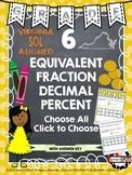 Grade 6 Equivalent Fraction, Decimal, Percent Relationships VIRGINIA SOL