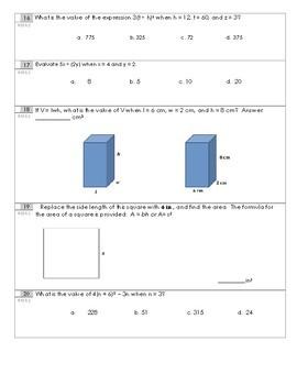 Grade 6 Eureka Math Module 4 Expressions and Equations