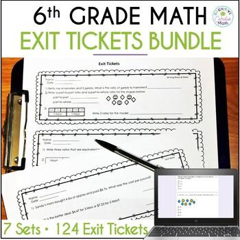 Grade 6 Exit Ticket Bundle