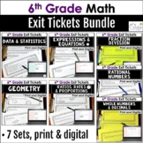 Grade 6 Exit Ticket Bundle
