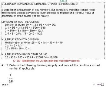 Grade 6 FRACTIONS UNIT 2: [Division of fractions]-4 worksh