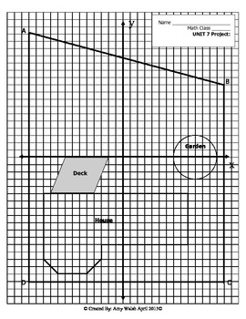 Grade 6 Geometry Project: Landscaping Project