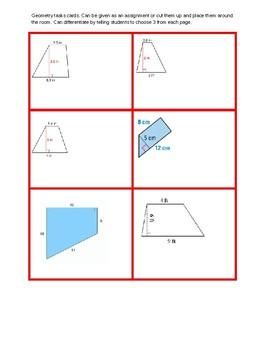 Grade 6 Geometry task cards