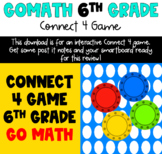 6th Grade Go Math! Connect 4 Game (Spiral Review)
