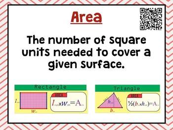 Grade 6 Go Math Unit 6 Word Wall