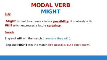 Grade 6: Grammar/ MIGHT