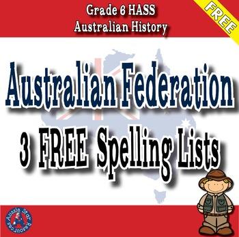 Australian Federation - FREE Spelling List