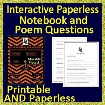 Grade 6 HMH Collections The Raven Introduction, Activities, Test, Google ELA HRW