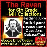 Grade 6 HMH Collections The Raven Introduction, Activities, Test, SELF-GRADING!