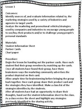 Grade 6 Health Unit 7 - Advertising