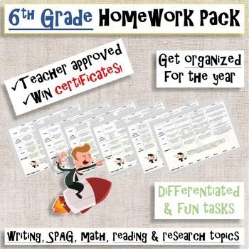 Grade 6 Homework (Yearly Pack)