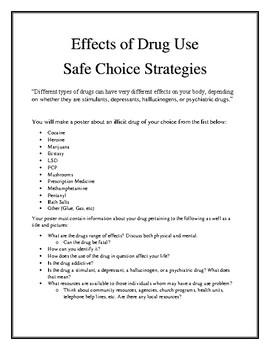 Grade 6 - Illicit Drug Poster