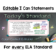 Common Core Standards I Can Statements for 6th Grade ELA