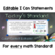 Common Core Standards I Can Statements for 6th Grade Math