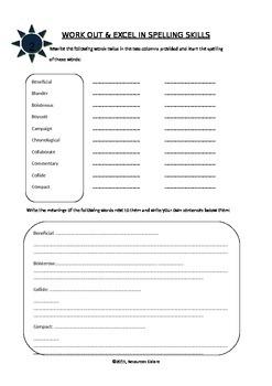 Grade 6: Spelling & Vocabulary Interactive Notebook
