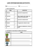 Grade 6 Life Systems Review Activity - Diversity of Living Things