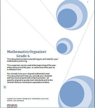 Grade 6 Math, CA Content Standards, Common Core Standards, Midyear Evaluation