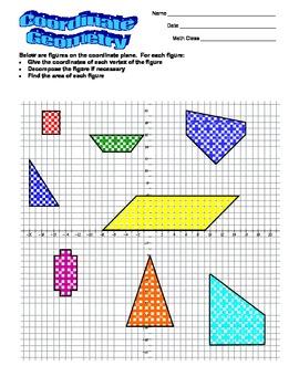 Grade 6 Math - Coordinate Geometry Worksheet