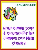 Grade 6 Math Curriculum for the Common Core Math Standard