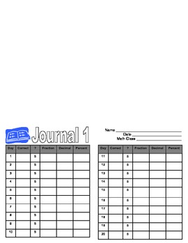 Grade 6 Math Daily Journal - 20 day Journal - Review Math