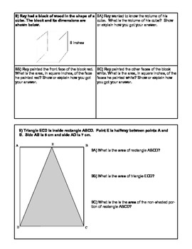 Grade 6 Math Geometry Test - Common Core