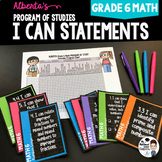 Grade 6 Math I Can Statements for Alberta