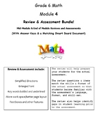 Grade 6, Math Module 4 REVIEW & ASSESSMENT w/Ans keys (pri