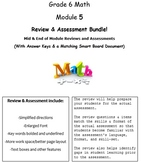 Grade 6, Math Module 5 REVIEW & ASSESSMENT w/Ans keys (pri