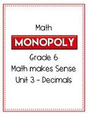 Grade 6 Math Monopoly Unit 3