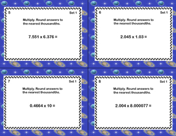 Grade 6 Math-Multiplying Decimals -CCSS.Math.Content.6.NS.B.3 Space Theme
