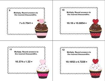 Grade 6 Math-Multiplying Decimals -CCSS.Math.Content.6.NS.B.3-Valentine's