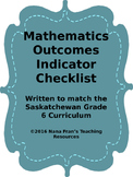 Grade 6  Math  Outcome Indicators Checklist