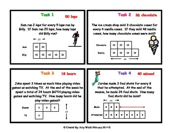 Grade 6 math ratios tape diagram task cards by amy w tpt grade 6 math ratios tape diagram task cards ccuart Gallery