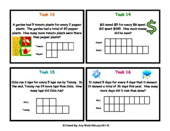 Grade 6 math ratios tape diagram task cards by amy w tpt grade 6 math ratios tape diagram task cards ccuart Choice Image