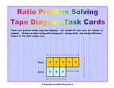 Grade 6 Math Ratios: Tape Diagram Task Cards