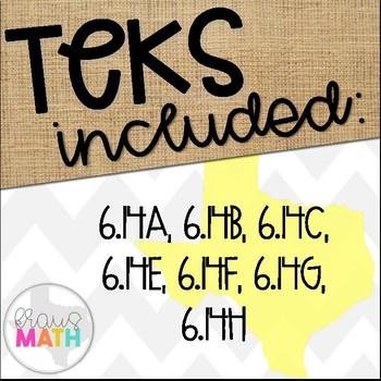 Grade 6 Math STAAR Test-Prep Task Cards- ALL FINANCIAL LITERACY TEKS BUNDLE!