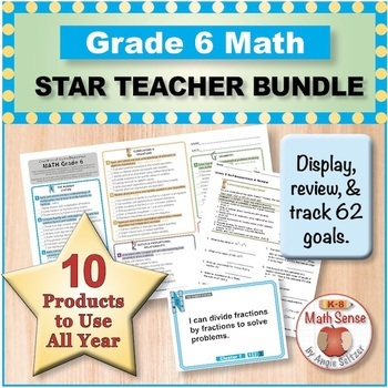 Grade 6 Math STAR TEACHER BUNDLE (Communication, Review, T